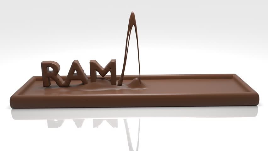 Ramadhan 4K 3D Text Animation Chocolate
