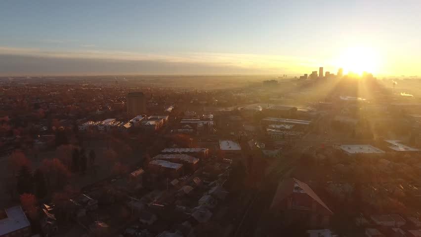 Morning light in Denver, Colorado | Shutterstock HD Video #1029038450