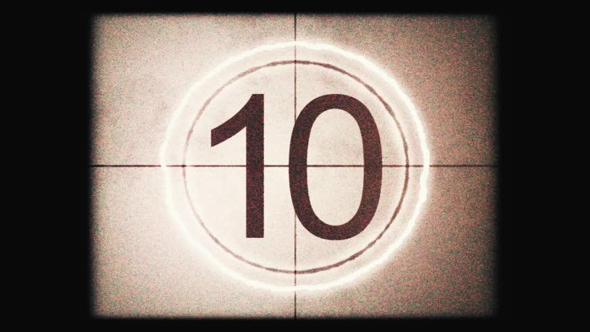 Film movie number countdown symbol clip | Shutterstock HD Video #1029108545