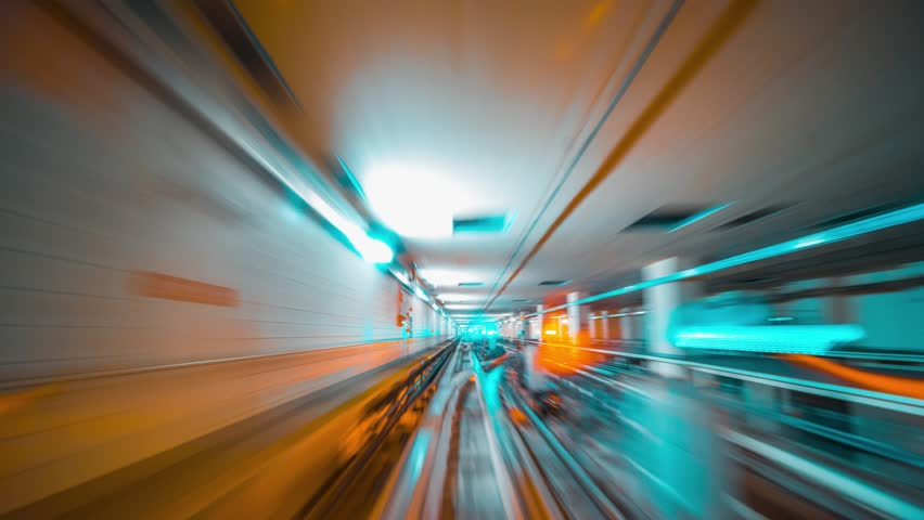 8K Abstract motion in a tunnel | Shutterstock HD Video #1029116717