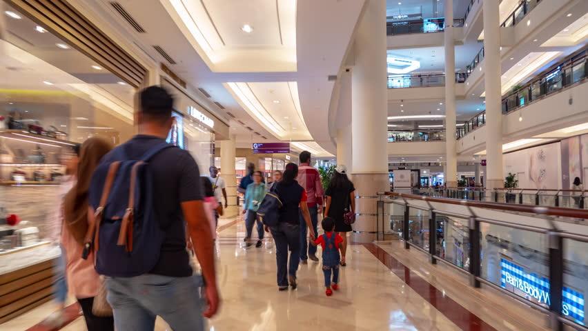 Sunny day kuala lumpur city famous famous towers mall walking panorama 4k timelapse malaysia | Shutterstock HD Video #1029177092