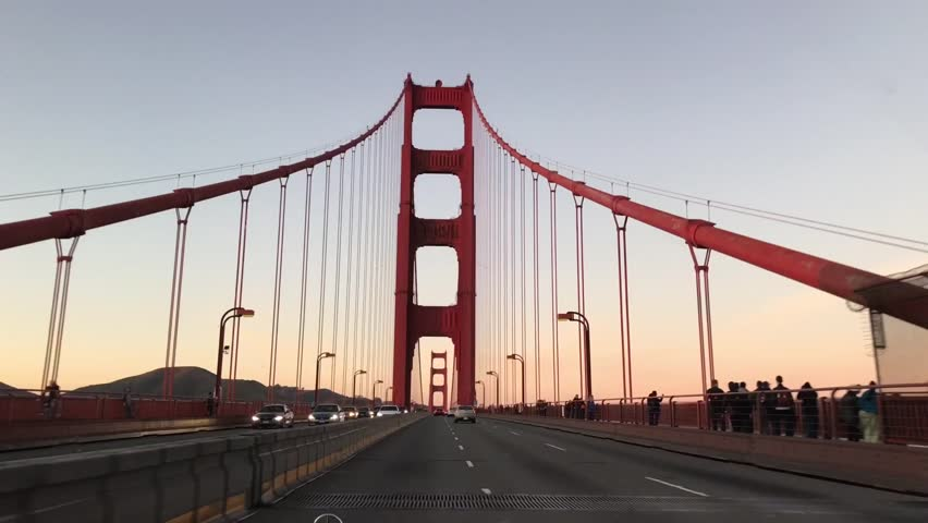 Golden Gate Bridge crossing at the evening in 2019, San Francisco, United States of America