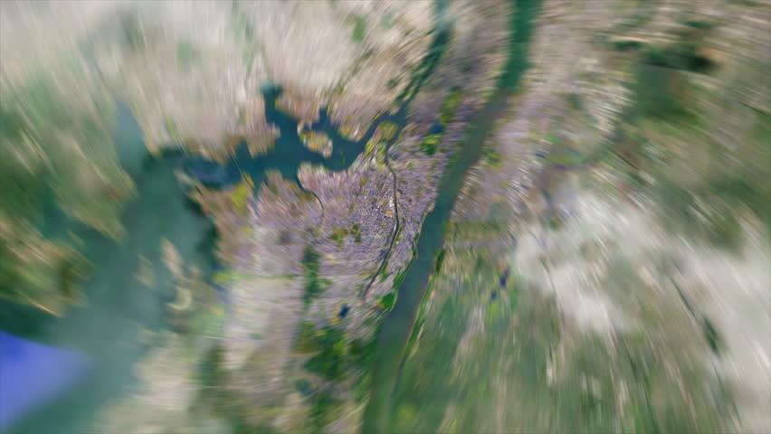 Earth Zoom from New York Yankees Stadium - Yankee Stadium - New York - USA