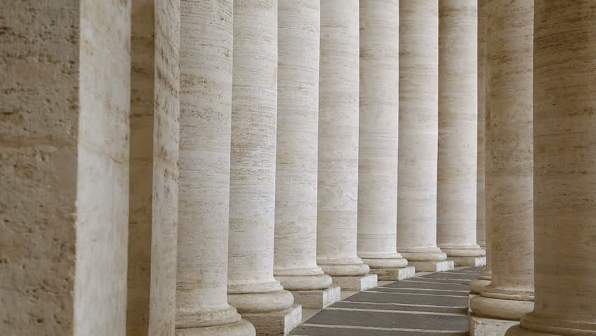 Famous colonnade of St. Peter's Basilica in Vatican | Shutterstock HD Video #1029323132