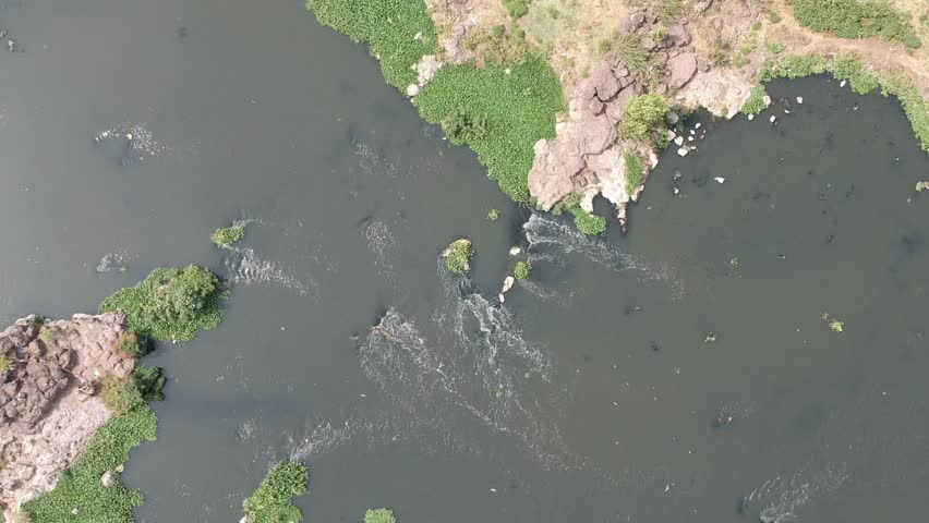 Flying over River| Water resource| Water stream| Drinking water| River in jungle| Rural India | Shutterstock HD Video #1029323687