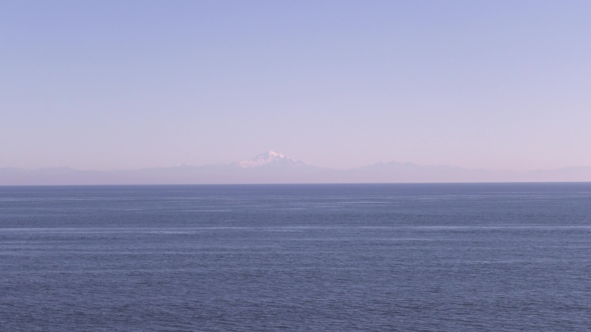 Super Wide of a Mountain on the Pacific Coast