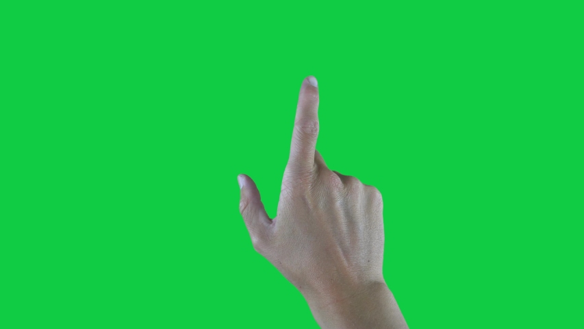 9 Touchscreen Hand Gestures, Green Screen