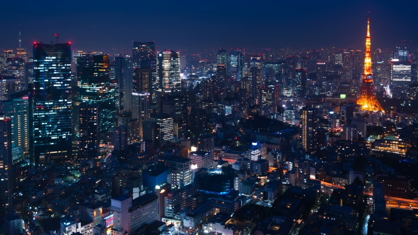 Tokyo Night View Timelapse 2019 Stock Footage Video (100% Royalty-free)  1029474701 | Shutterstock