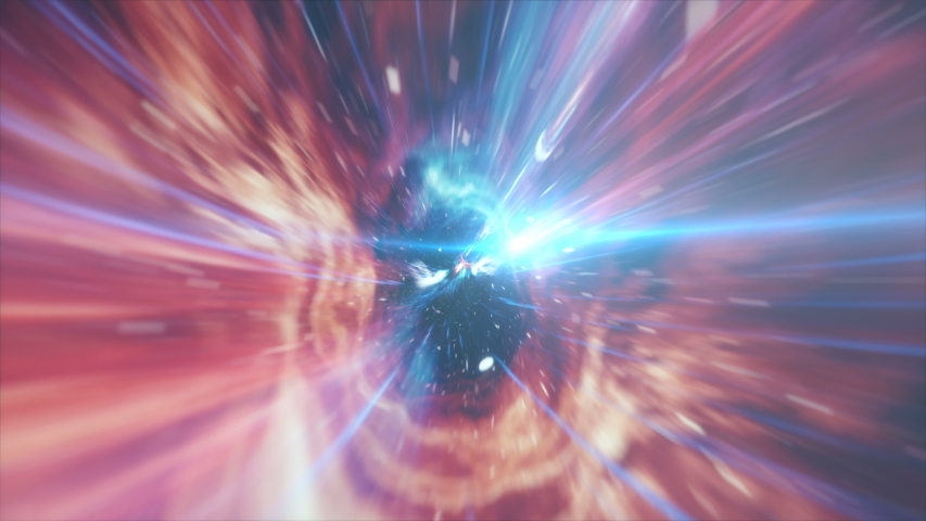 Seamless travel through a wormhole through time and space filled with millions of stars and nebulae. Wormhole space deformation, science fiction. Black hole, vortex hyperspace tunnel. 4k animation | Shutterstock HD Video #1029482531