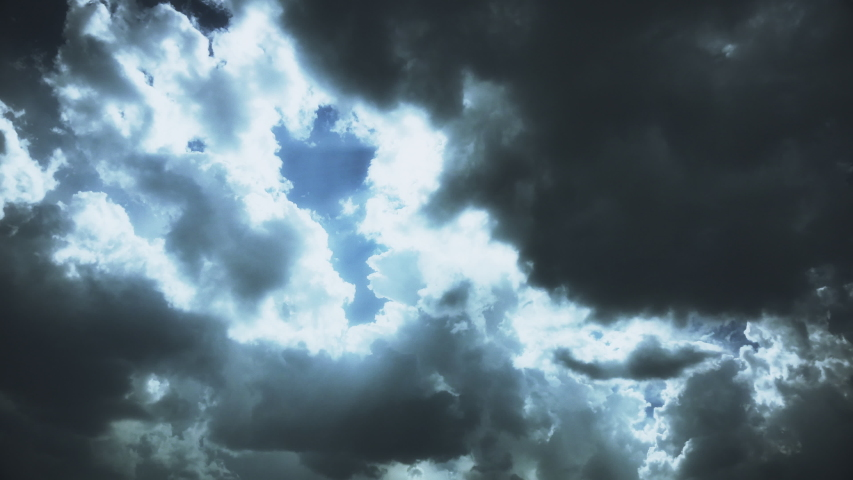 hurricane clouds black heaven moody thunder Royalty-Free Stock Footage #1029495776