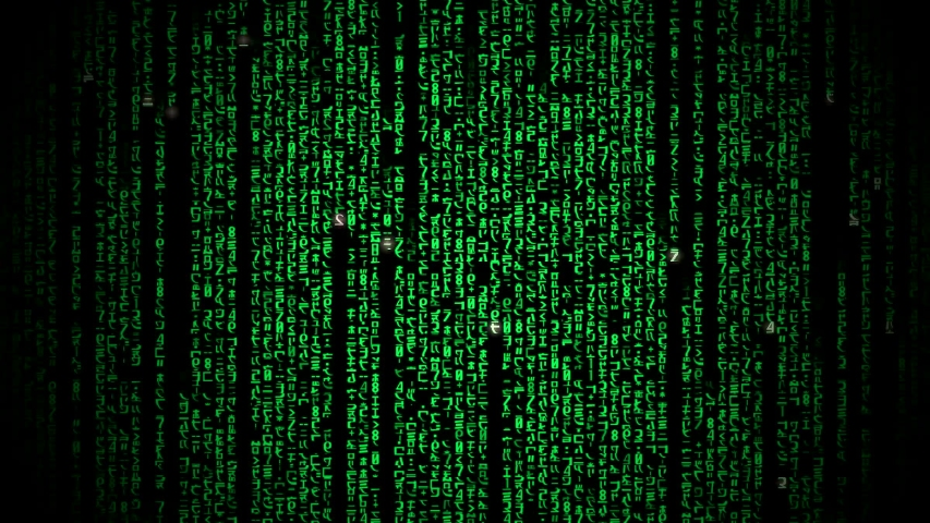 Cyberspace with green digital falling lines, abstract background, binary chain. Crypto space.Digital binary data, streaming code background. Matrix background. Programming / Coding / Hacker concept.    Shutterstock HD Video #1029528389