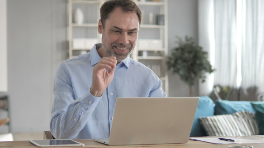 Businessman Doing Online Video Chat on laptop | Shutterstock HD Video #1029594650