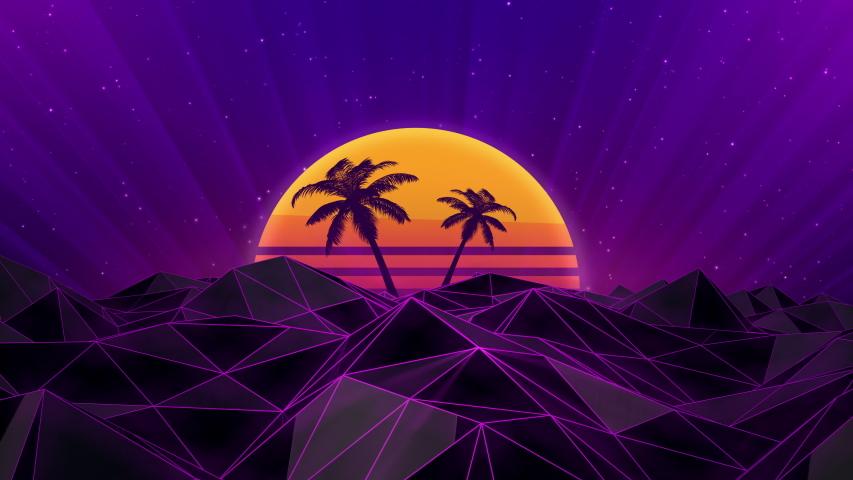 80s Style Retro Loop Background