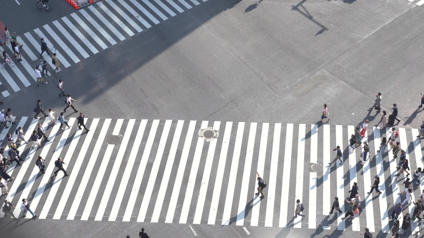 Shibuya crossing view from above | Shutterstock HD Video #1029613034