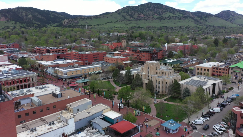 Aerial of Boulder downtown Colorado | Shutterstock HD Video #1029634514