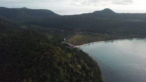 Aerial view of Koh Kood. The undeveloped tropical paradise is a real gem, and one of Thailand's best kept secrets.