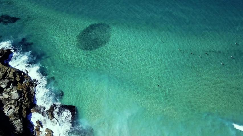 Drone shot looking over Bronte Beach, Nelson Bay, NSW Sydney, Australia | Shutterstock HD Video #1029653213