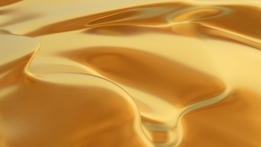 abstract gold liquid. Golden wave background. Gold background. Gold texture. Lava, nougat, caramel, amber, honey, oil. #1029658322