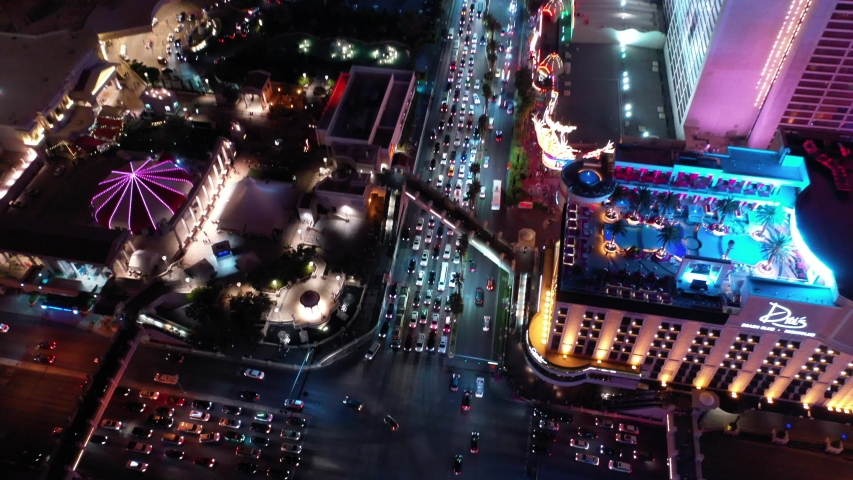 LAS VEGAS, NEVADA - APRIL 23, 2019: Las Vegas Strip / Aerial, Drone | Shutterstock HD Video #1029677189