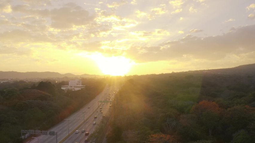 Sunset at monsieur romero. San Salvador, El Salvador.  | Shutterstock HD Video #1029686621