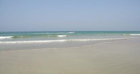 Tracking Jet Ski on pristine clean waters of Goa