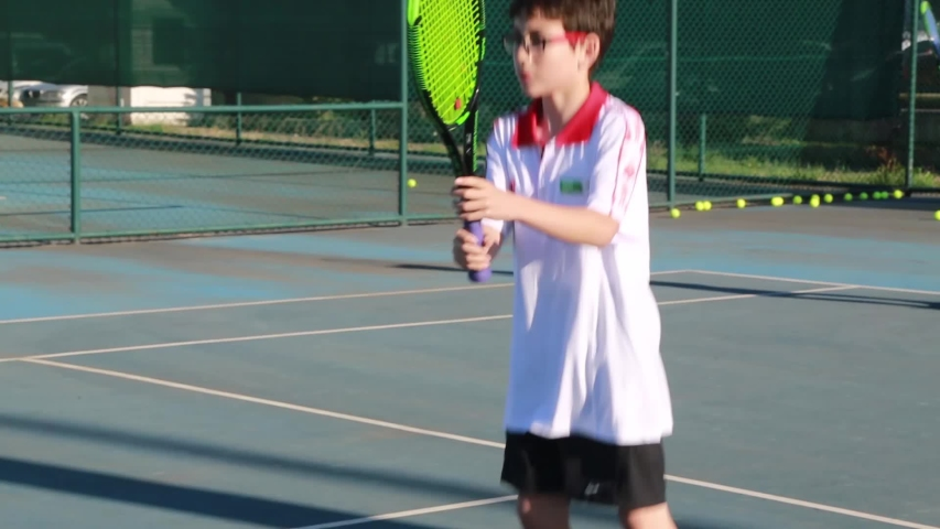 Boys Are Playing Tennis On Stock Footage Video 100 Royalty Free 1029714125 Shutterstock