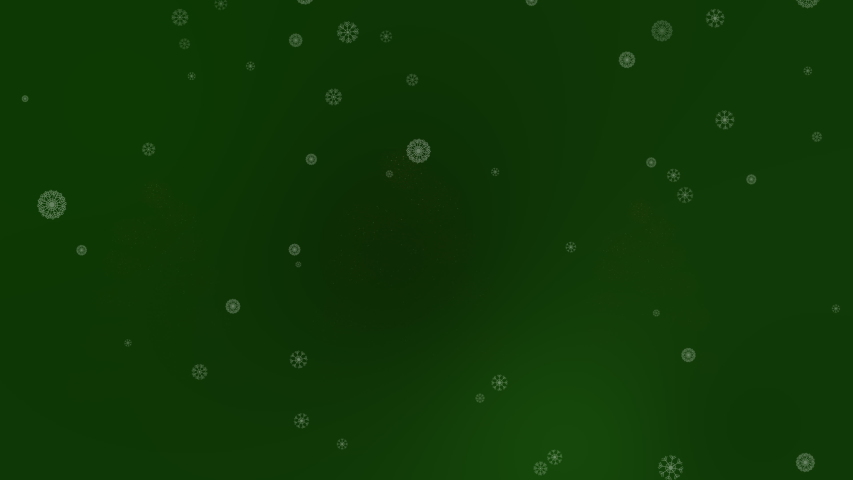 Three Magical Trees Appearing with Snow Flakes In Dark Green   Shutterstock HD Video #1029717413
