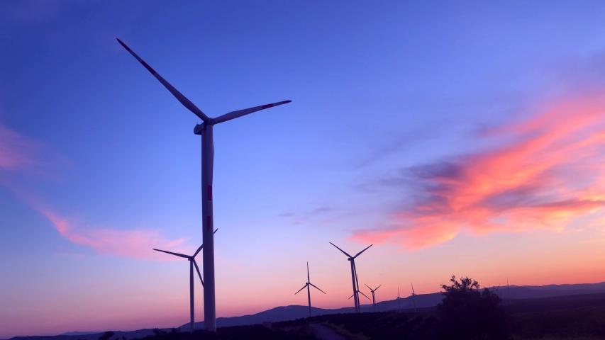 Wind turbine power energy sky electricity   Shutterstock HD Video #1029848210