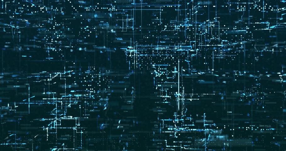 Abstract 3D digital data background | Shutterstock HD Video #1029871760