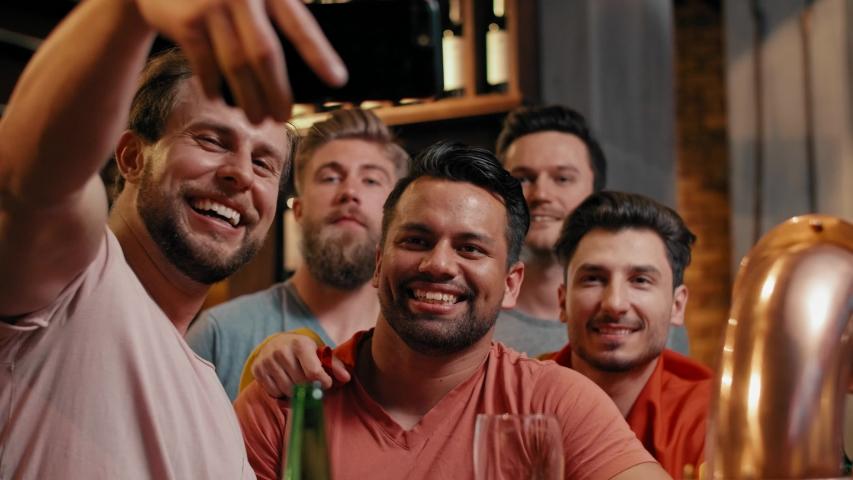 Great selfie of cheerful group of friends   Shutterstock HD Video #1029921269