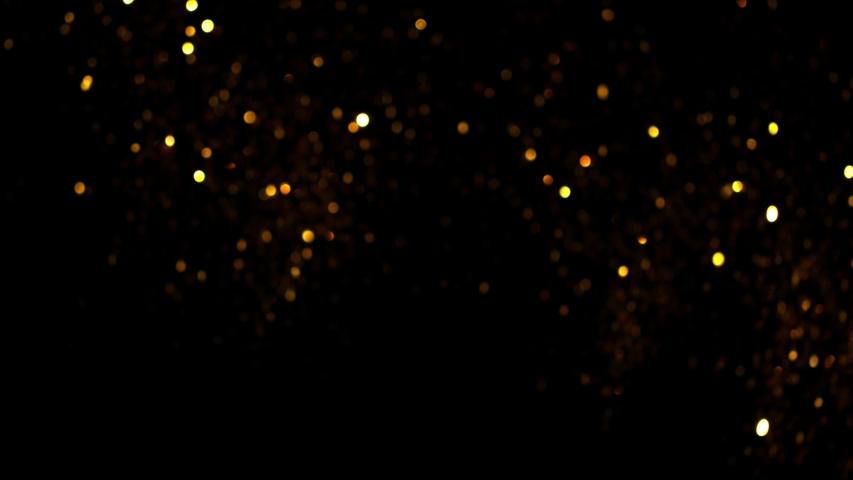 Golden Glitter Background in Super Slow Motion at 1000fps. #1029953807