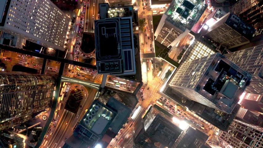 Hong Kong Night Drone Central  | Shutterstock HD Video #1029962516