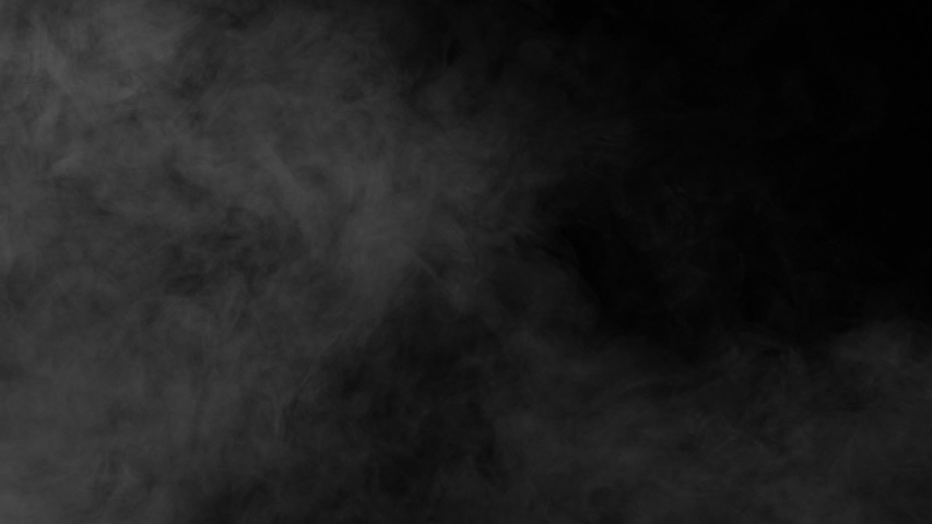 Black Screen in White Smoke. Gray smoke on a black background slowly dissipates and disappears from the screen   Shutterstock HD Video #1029986717