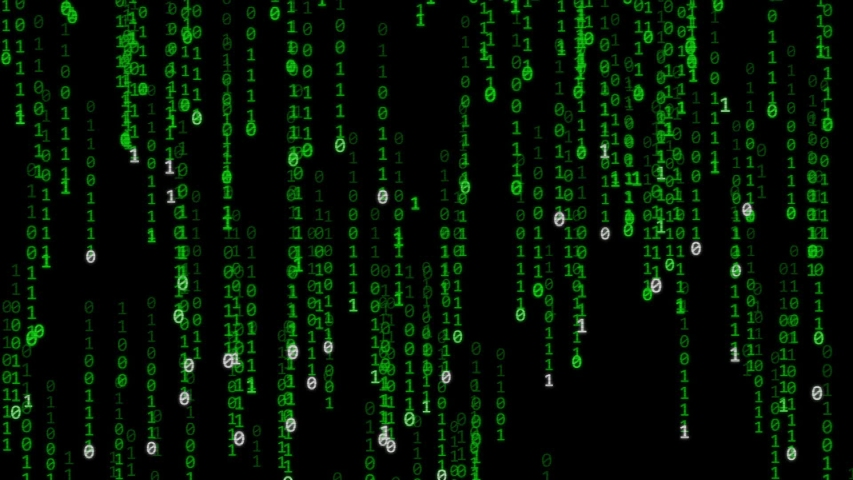 Matrix style background - numbers and letters going down   Shutterstock HD Video #1030010189
