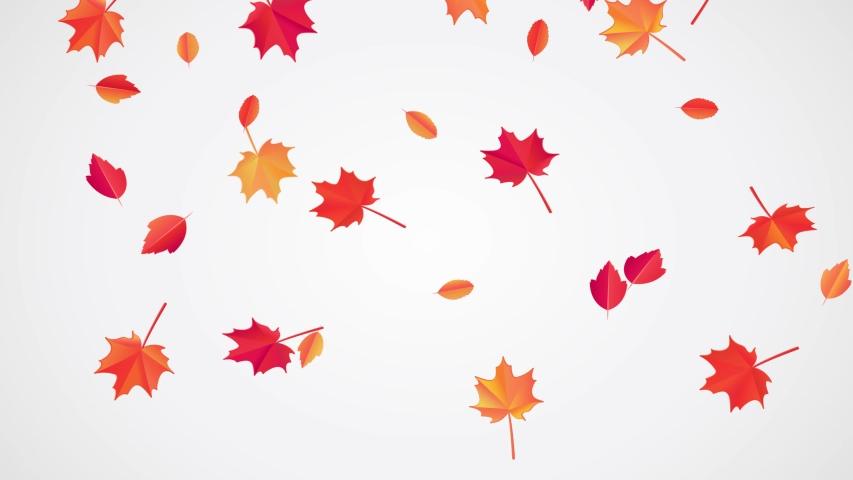 Falling Autumn Leaves Animation. Looped Stock Footage ...