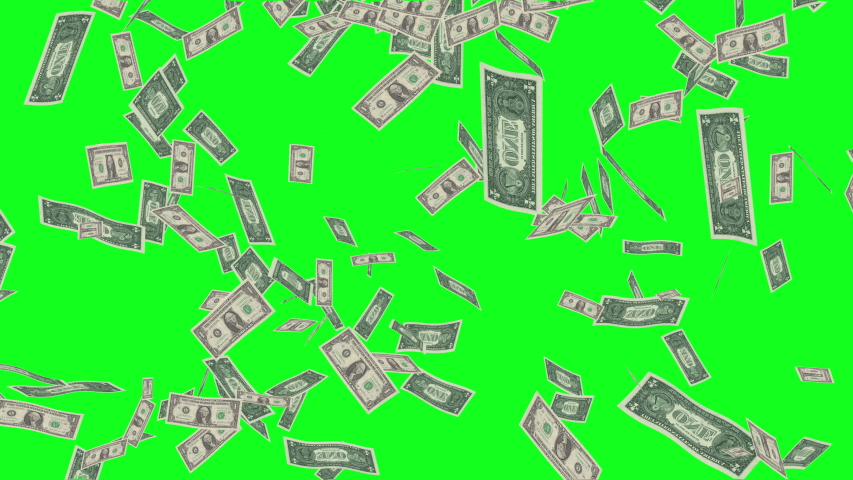 Green Screen Dollar Bills Rain Effects Animation Money Rain 4k business animation Money dollars rain greenscreen Dollar bills falling rain green screen business studio effects production background 4k