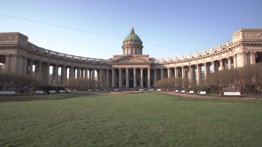 Kazan Cathedral in Saint Petersburg, Russia in 4k
