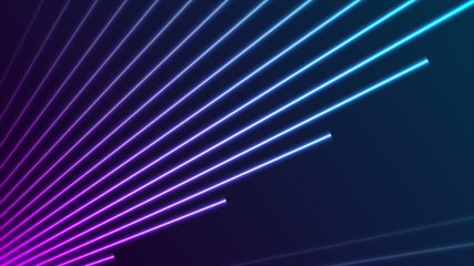 Bright neon laser rays lines tech futuristic motion design. Seamless looping. Video animation Ultra HD 4K 3840x2160