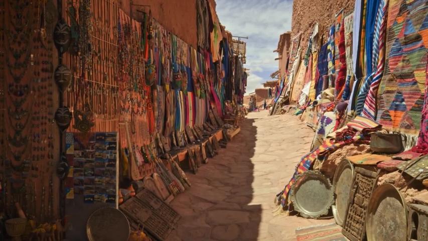 Market stall in Aït Benhaddou Morocco