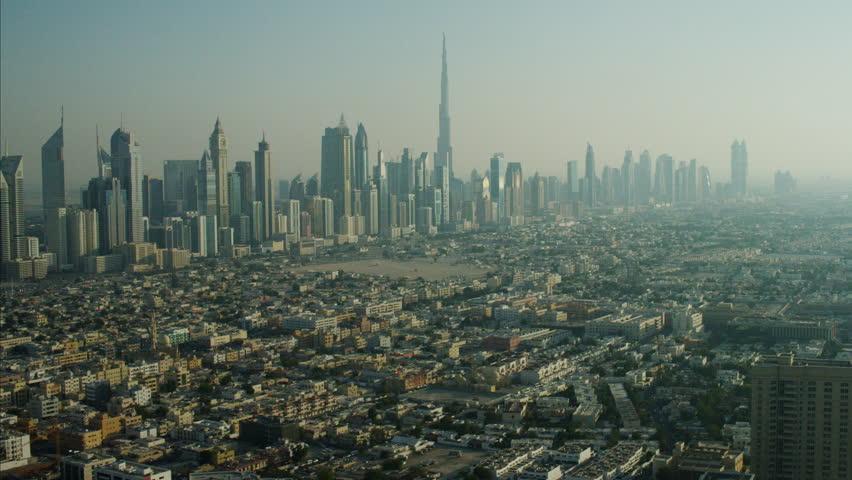 Aerial Skyscrapers Burj Khalifa Downtown Dubai UAE | Shutterstock HD Video #10301861
