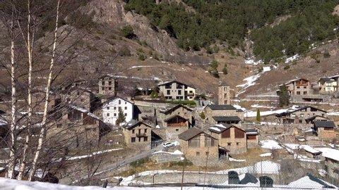 Catalonia Andorra la Vella, mountain village with a perkkasnym mountain view