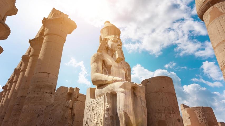 Karnak temple in Luxor, Egypt | Shutterstock HD Video #1030273748