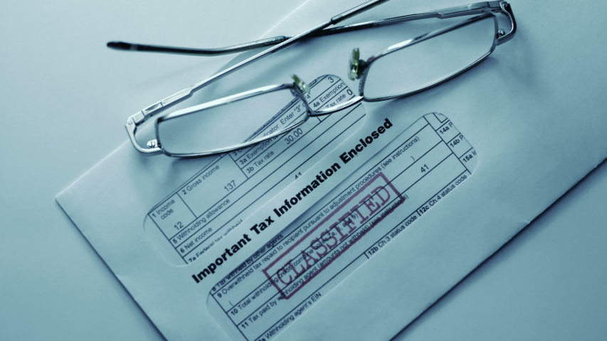 Important tax information enclosed classified