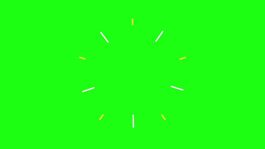 Set of Elements for Motion Graphics on a Green Screen Background