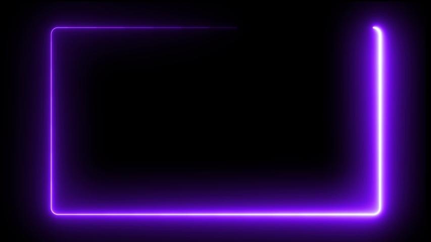 Neon Frame animation on black background #1030373105
