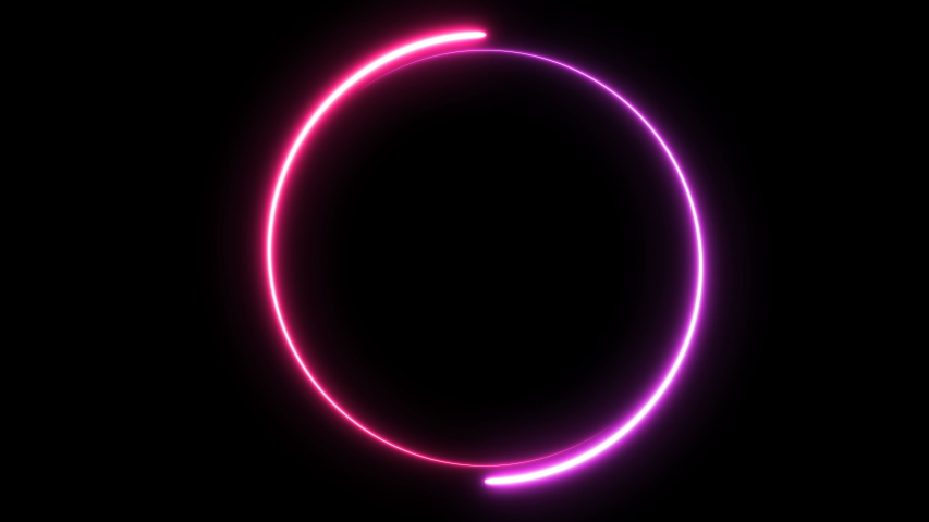 animation with a space for custom text placement. light glowing neon, progress loading circle bar, seamless looped #1030433099