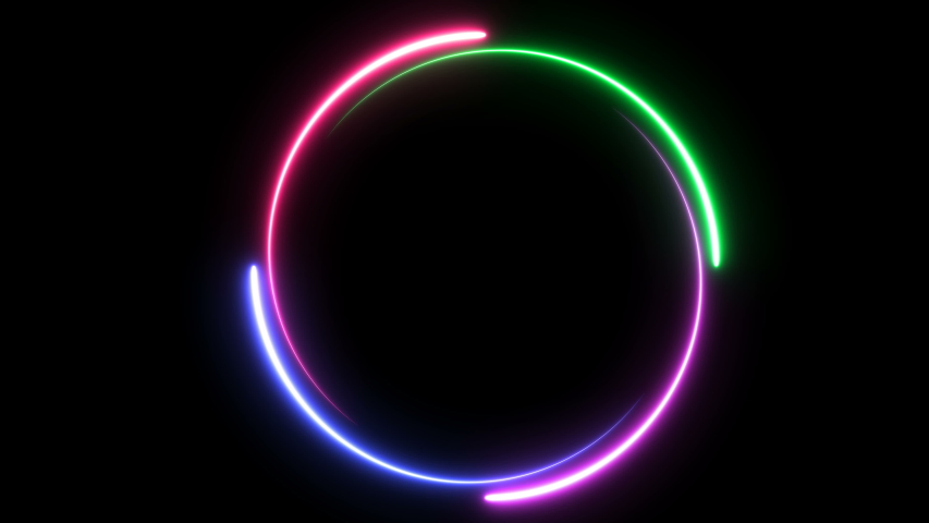animation with a space for custom text placement. light glowing neon, progress loading circle bar, seamless looped #1030433102