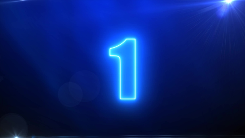 4K Video Countdown. NEON Style for Editor. | Shutterstock HD Video #1030516040