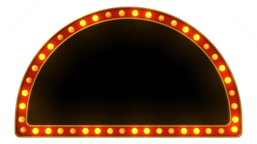 Animation red marquee light board sign retro on white background. 3d rendering | Shutterstock HD Video #1030517759
