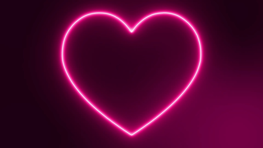 Pink love neon sign animation video footage | Shutterstock HD Video #1030571102
